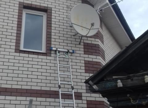 Установка тарелки и эфирной антенны в г. Екатеринбург
